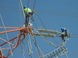 Tranmission line - Tension insulator replacement