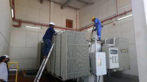 Transformer maintenance works